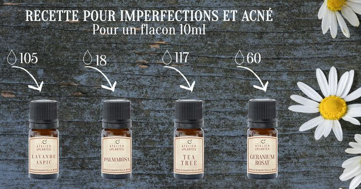 Recette Do it Yourself aux huiles essentielles : SOS IMPERFECTIONS