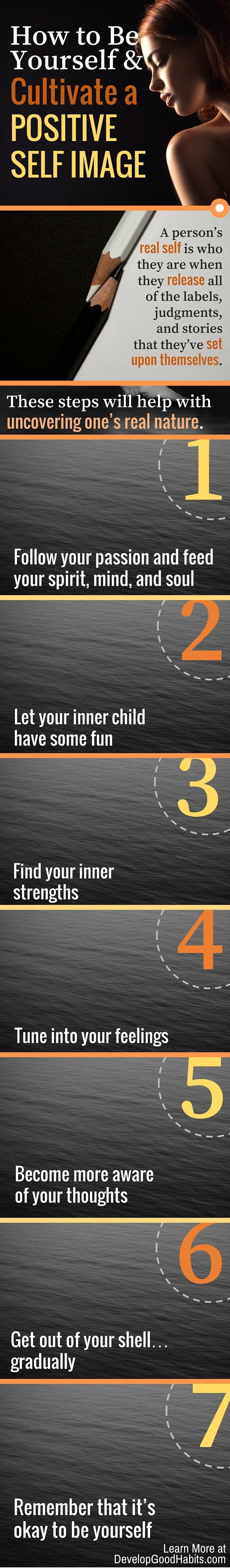 Be your real self. Ignore labels and judgement. http://www.developgoodhabits.com/  Click to view inforgraphic, Click again to enlarge