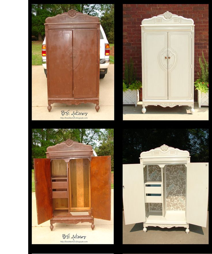 Best 25 armoire redo ideas on pinterest entertainment center redo bar cabinet furniture and for Refurbished bedroom furniture