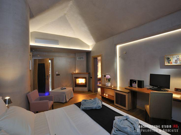 Bedrooms _ hotel room | modern | equipment  | Pelion | minimal | interior design | natural materials | traditional architecture | construction _ visit us at: www.philippitzis.gr