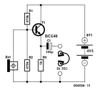 electronic stethoscope circuit schematic