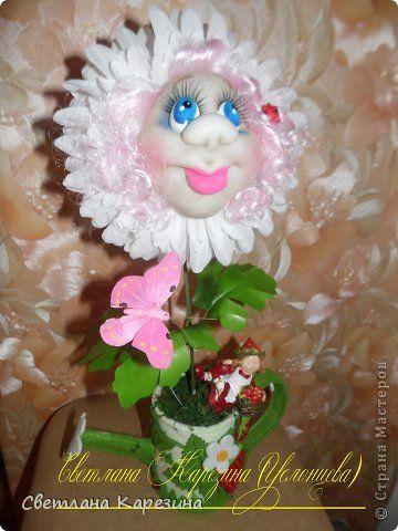 Бонсай топиарий День рождения Шитьё мини МК цветочек с мордочкой фото 1