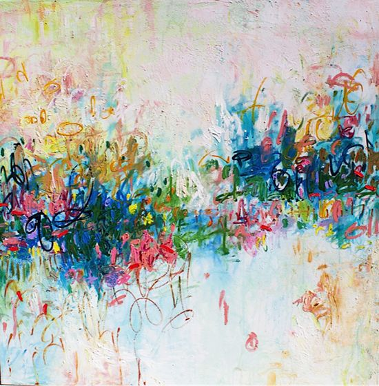 One Glimpse, 60 x 60 in. abstract