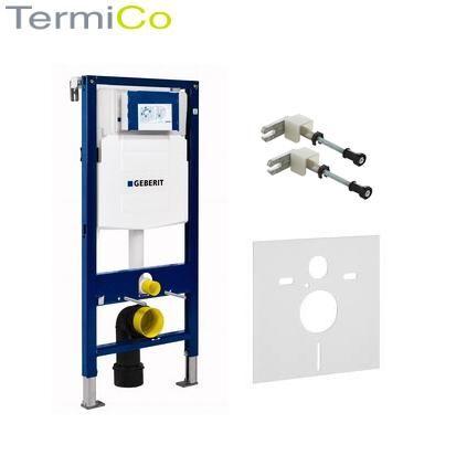 Zestaw podtynkowy do wc Geberit Duofix UP320 składający się ze stelaża podtynkowego, wsporników montażowych i maty