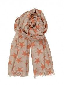 BeckSöndergaard - B-Summer night scarf Salmon DKK 499.- (66€) #Becksondergaard #scarf #fashion