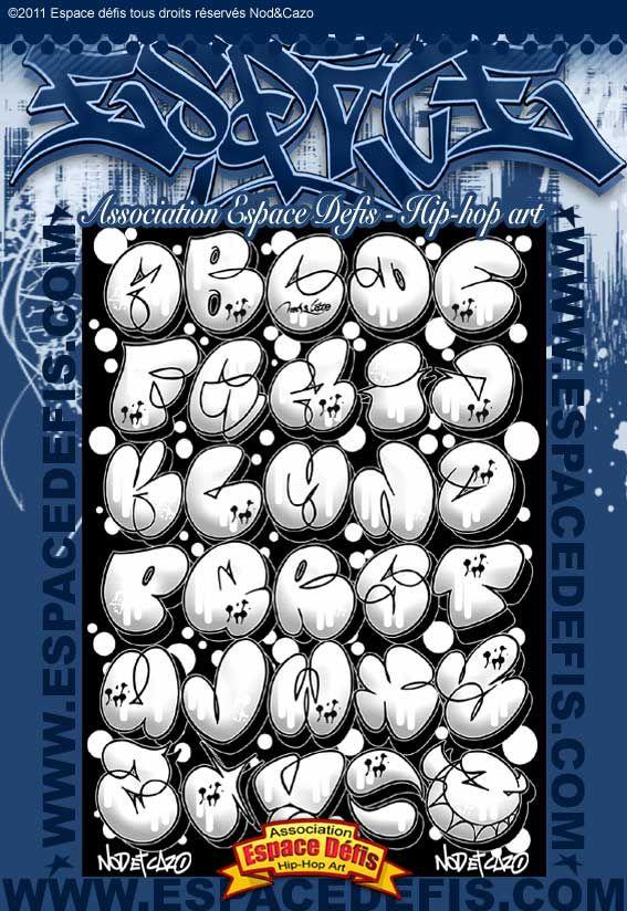 4 , Alphabet graffiti bubble style , Vous avez choisi celui,ci ! participez  au