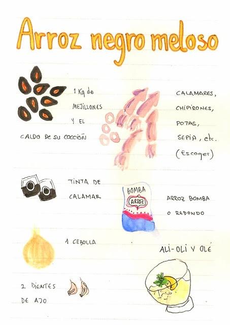 Gastro Andalusi: Arroz negro meloso con mejillones y sepia al vino tinto (Risotto negro)