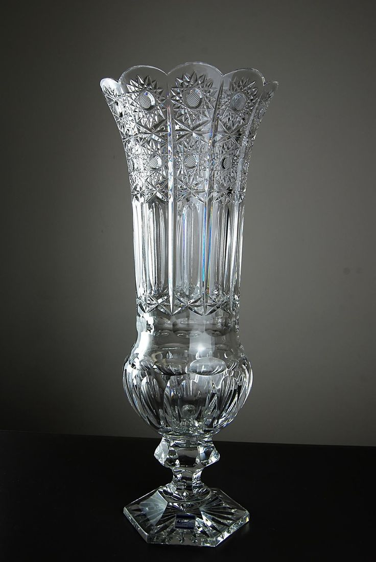 German Cut Glass Vase By Olbernhauer Vases Crystal