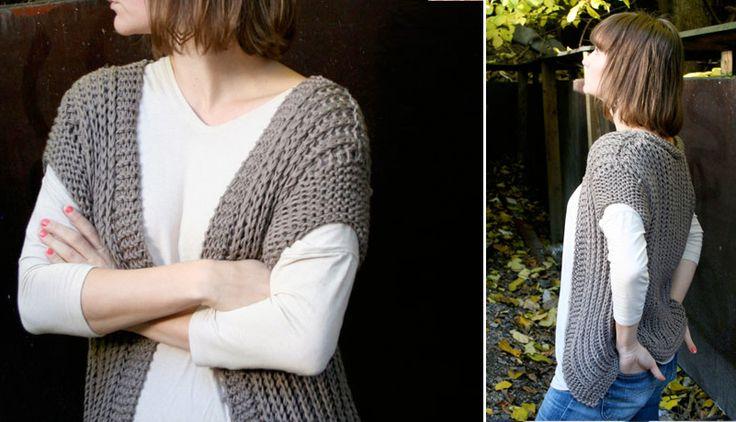 Go vest - free knitting pattern - Pickles