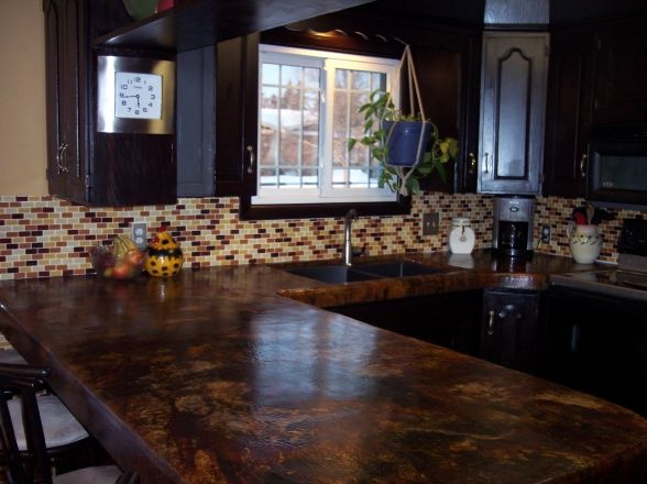 15 Best Images About Stained Concrete Countertop Ideas On