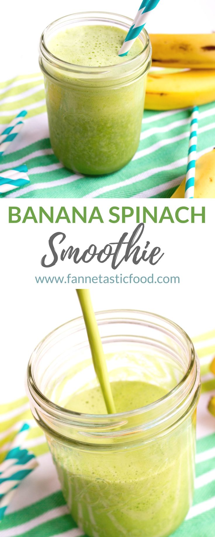 This Banana Spinach Smoothie is an easy classic green smoothie recipe to get you started on veggie filled smoothies! So simple, so delicious! | vegan smoothie recipes | healthy smoothie recipes | green smoothie recipes |