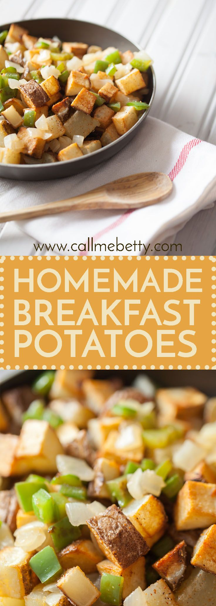 These homemade breakfast potatoes are perfectly crisp, restaurant style home fries from scratch are so easy, this recipe is a family favorite!