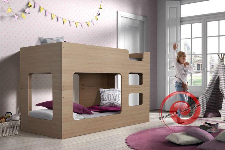 Cube køyeseng 90x200 - Drommerom | Barnemøbler, barneseng, bilseng, brannbilseng