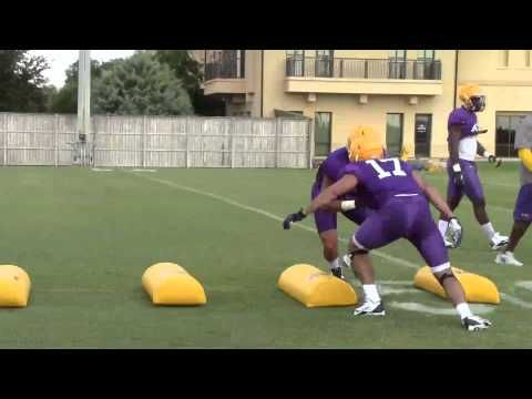 LSU assistant coach Brick Haley puts linebackers through a tackling drill | Video - YouTube