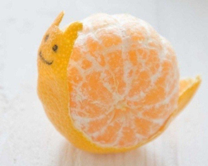 Orange Peel Art | Cute Japanese Orange Peel Art