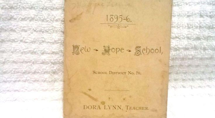1895-96 New Hope School Enrollment List