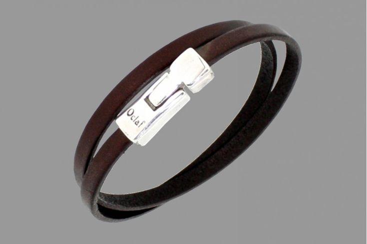 """Bracelet homme cuir """"Mississippi"""" marron"""