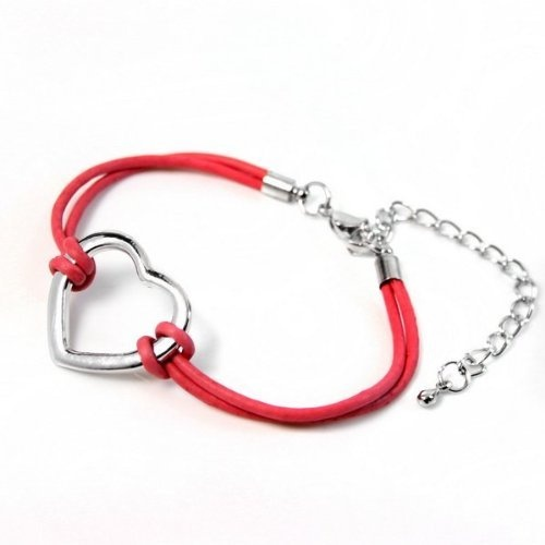 Red Heart Bracelet - Love & Friendship - PU Leather - Claw Clasp by Beautylicious, http://www.amazon.co.uk/dp/B00AWM76W6/ref=cm_sw_r_pi_dp_5e.crb13AK2QA