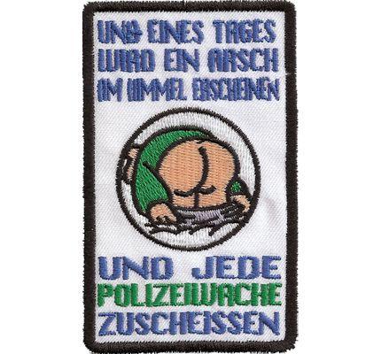 ACAB Popo Polizeiwache zuscheissen, Anti Deutsche Polizei Biker AufnäherACAB, All Cops are Bastards, Popo, Polizeiwache, zuscheissen, Anti, Deutsche, Polizei, Biker, Aufnäher, Patch