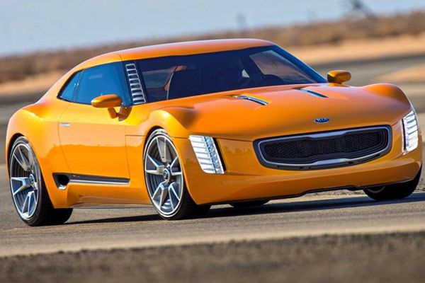Kia GT4 Stinger - 2014 - The race-bred 2.0-liter engine pushes out an amazing 315 horsepower, thanks to force-feeding from turbocharging. Kia engineers say taking the output to 400 horsepower could be done with minimal effort.