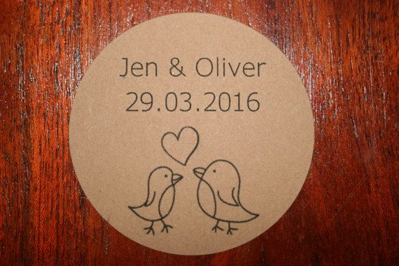 Personalised recycled wedding favour / favor by BloominLovelyAU