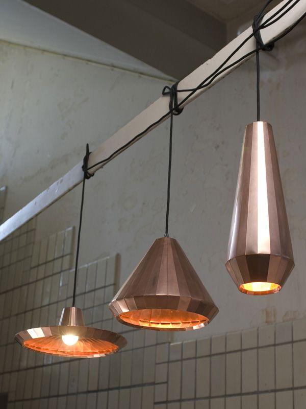 Copper Lights van David Derksen / Koperen lampen