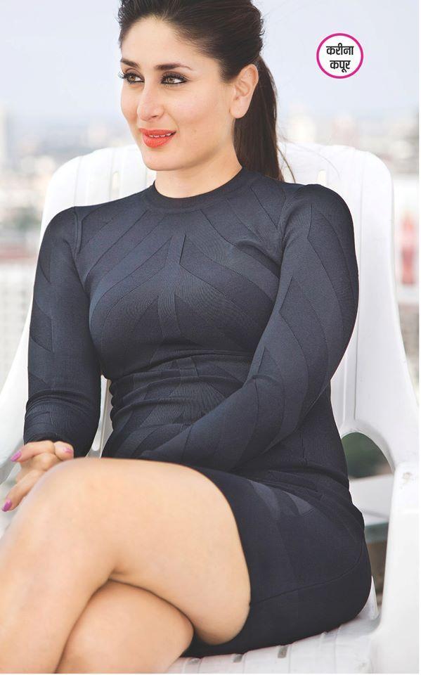 Kareena Kapoor in a black dress.
