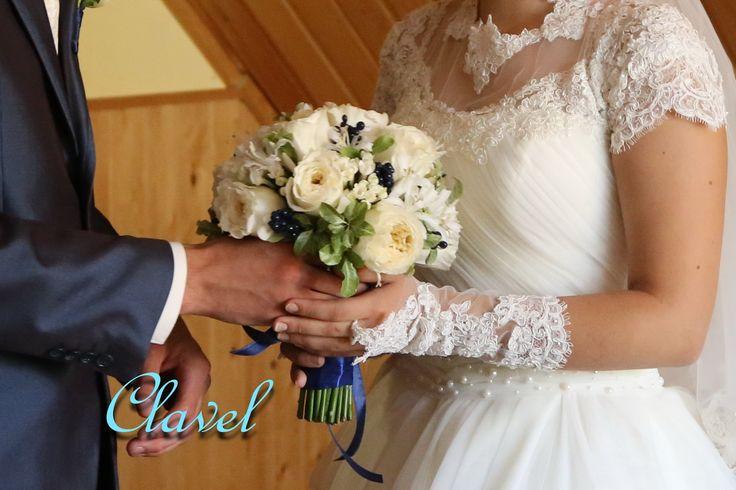 Терпение, свадебный букет, Nerine, Pistache, Дэвид Остин, синий свадьбы