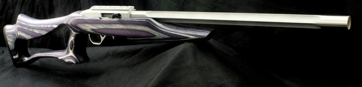 Custom Ruger 10/22 Rifle Deep Fluted Stainless.  Boyd Evolution Purple stock.  KIDD trigger