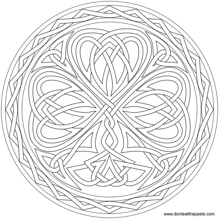 Knotted Shamrock to color