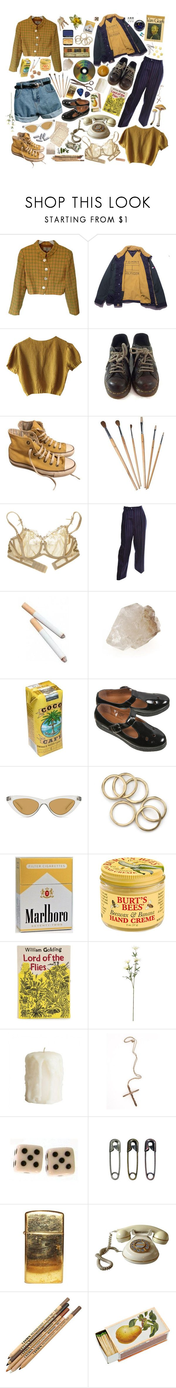 """""""living off of coffee"""" by ohhoneyy ❤ liked on Polyvore featuring Valentino, Schumacher, Dr. Martens, Converse, Cotton Club, Yves Saint Laurent, Retrò, Topshop, Le Specs and Burt's Bees"""