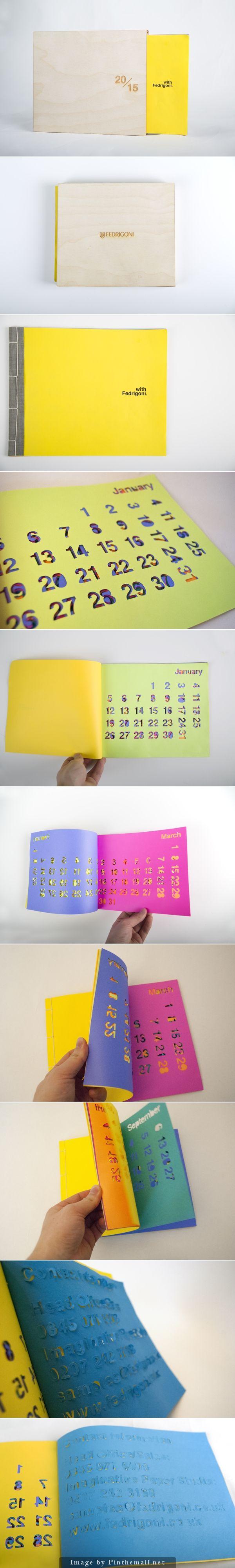 Fedrigoni 2015 Calendar Design YCN Student Awards By Aaron Fan Feng