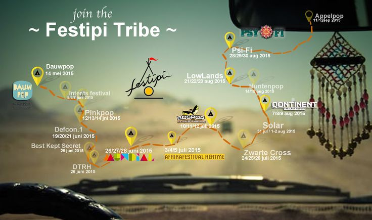Festipi Tribe #festitribe www.festipi.nl Our festival calendar 2015