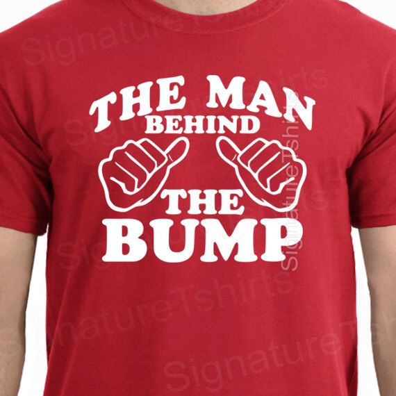 The Man Behind The Bump Funny T-Shirt Tee Shirt TShirt Mens Christmas Shirt Gifts for Dad Pregnant Pregnancy Father day Tee shirt tshirt by signaturetshirts on Etsy https://www.etsy.com/listing/169609583/the-man-behind-the-bump-funny-t-shirt