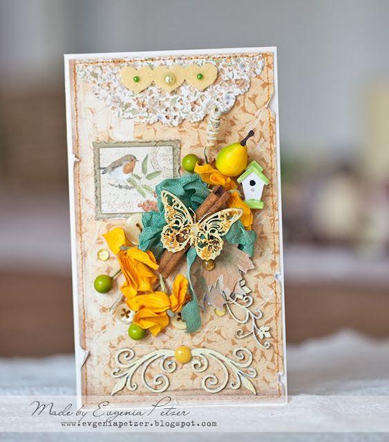 Осенние открытки скрапбукинг с днем рождения
