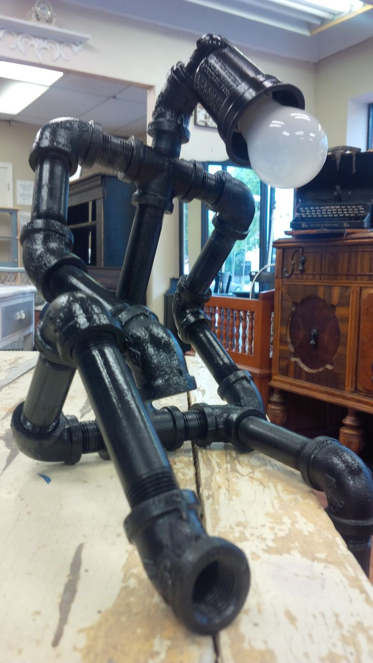 Black plumbing pipe lamp pieces pinterest for What type of plumbing do i have
