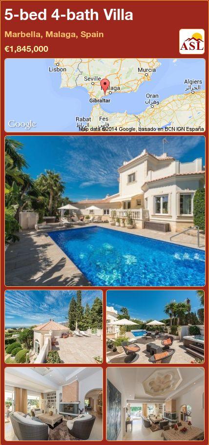 5-bed 4-bath Villa in Marbella, Malaga, Spain ►€1,845,000 #PropertyForSaleInSpain
