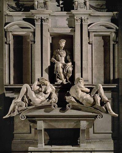 16th michelangelo tomb of giuliano de medici florence italy