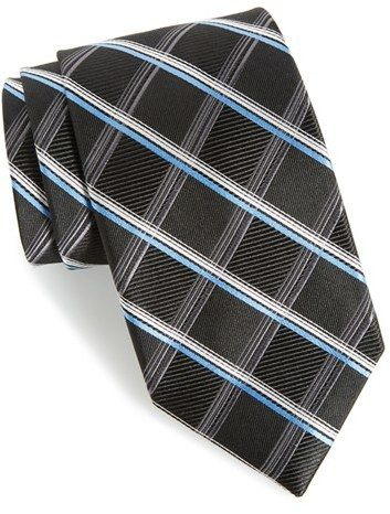 Men's Nordstrom Men's Shop Club Grid Silk Tie