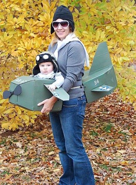 fatos de halloween para bebés - Mãe avião