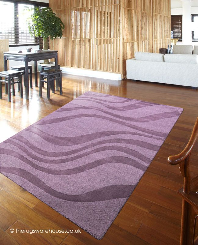Aero Heather Rug A Hand Tufted Wool In Several Shades Of Purple