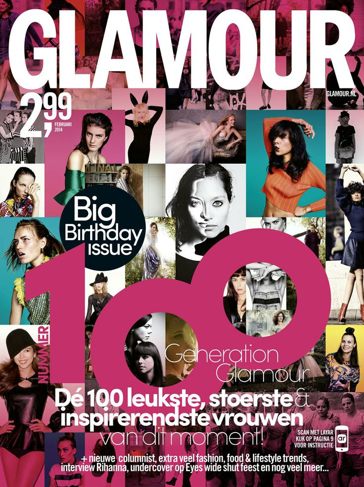 [Dutch content] Big Birthday Issue has a great interactive cover!! Scan the cover of the February ed. with the @Layar App to see for yourself. (expires: 7 April 2014)