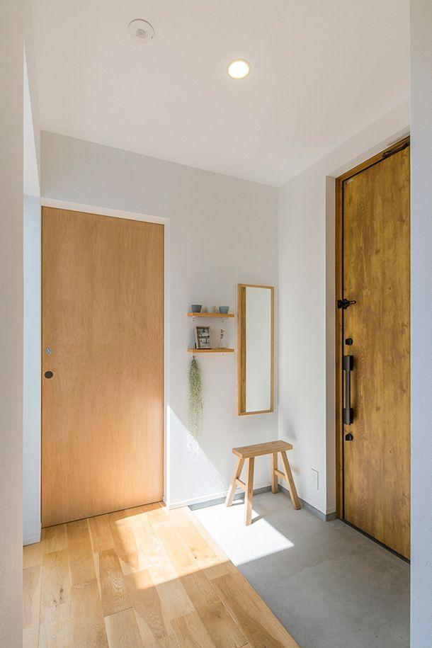 白と木のテクスチャが調和した家・間取り(愛知県) | 注文住宅なら建築設計事務所 フリーダムアーキテクツデザイン