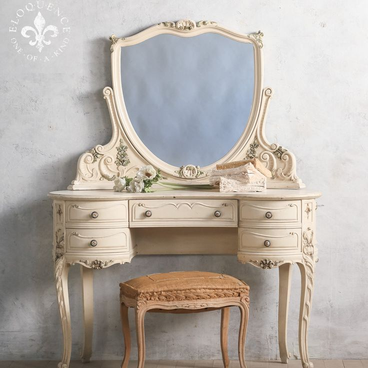 Vintage French European Vanity www.thebellacottage.com
