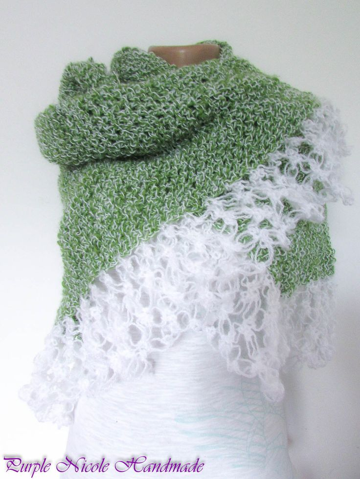 Sea Foam - Handmade Beautiful Crocheted Shawl / Comforter / Neckwarmer by Purple Nicole (Nicole Cea Mov)