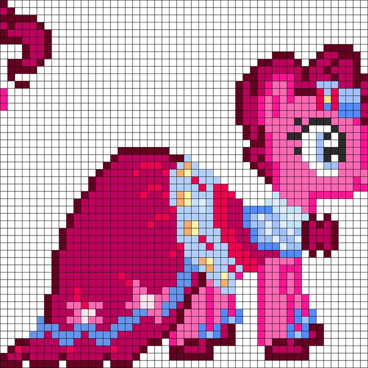 MLP Gala Pinkie Pie Perler Bead Pattern / Bead Sprite