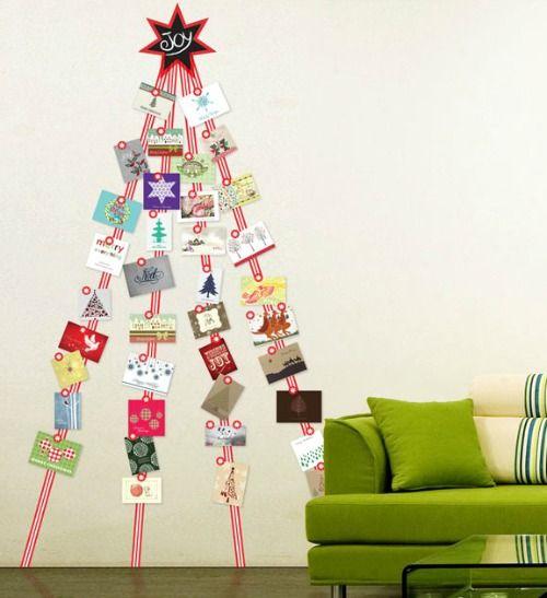 Manieren om kerstkaarten op te hangen | Éénig Wonen