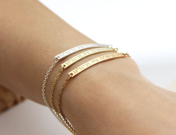 Delicate skinny Coordinate bracelet Bridesmaid by handcraftmine