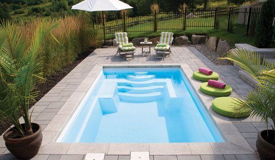 Inspirations déco: Piscines extérieures | CHEZ SOI © Photo via fibro.ca #deco #exterieur #piscine #terrasse
