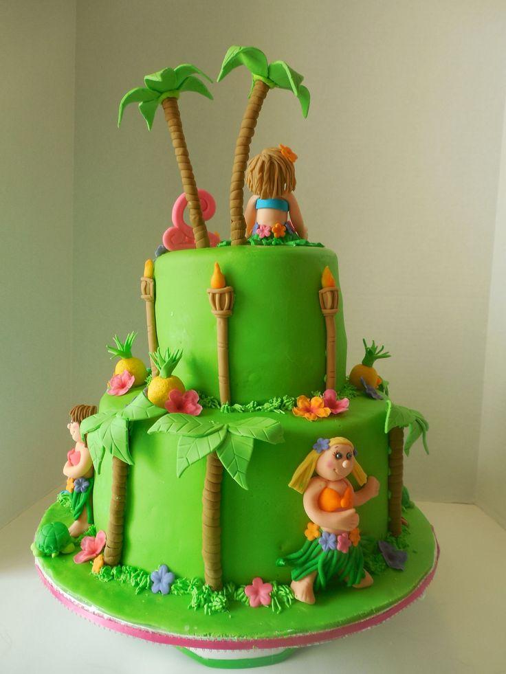 Happy Hula Girl Cake